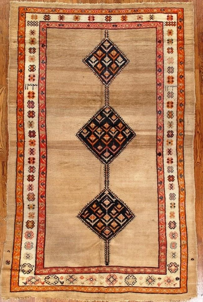 Antique Camel Hair Hamedan Carpet