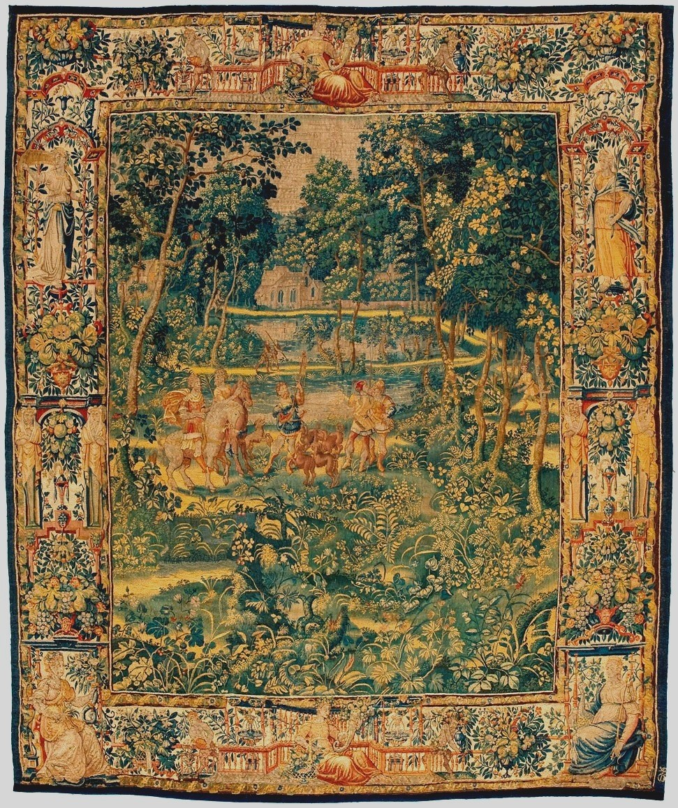 Antique Game Park Tapestry 17th Century