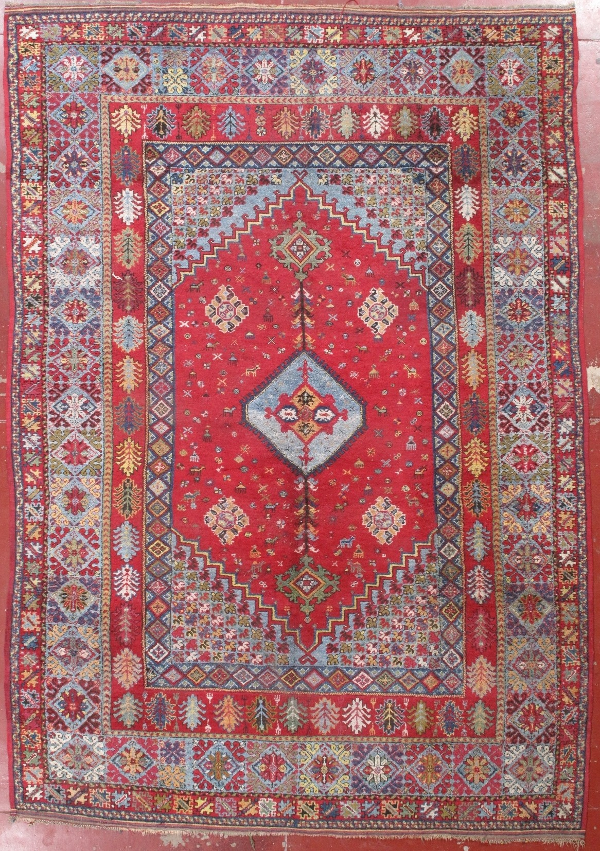 Antique Carpet With Rich Red Coloures